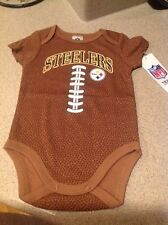 Pittsburgh Steelers NFL Baby Football Bodysuit, 3 - 6 Months, New With Tags