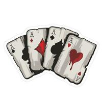 Four A Poker Graphic Car Sticker Motorcycle Auto Styling Reflective Decal $S1