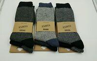 Winter Men's Merino Wool Boot Sock color heel/toe 6 pk Assorted colors size10-13