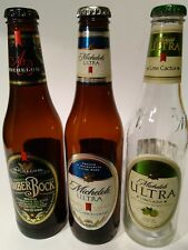 Beer Bottles Michelob with CAPS 3 pcs EMPTY amber bock ultra men cave