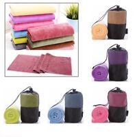 Yoga Microfiber Non Slip Mat Cover Towel Blanket Sport Exercise Pilates Workout