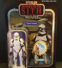Star Wars Vintage White Infantry Clone Trooper Foil Variant VC15 ROTS MOC figure