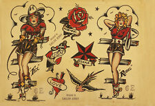 Sailor Jerry Tattoo Art Flash #13   13 x 19 Photo Print