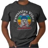 Positive Vibes Pawsitive Slush Puppie Logo Short Sleeve T-Shirt Tees Tshirts