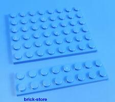 LEGO® /  2x8 Platten blau  / 4 Stück
