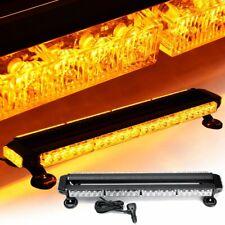 26.5'' Amber 54W LED Emergency Flash Strobe Light Bar Traffic Lamp Double Side