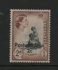 Swaziland 1961 Postage due surcharge 2d on 2d  SGD3 MNH mint stamp