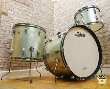 VINTAGE Ludwig 1960s Argento Brillante Pearl Super Classic DRUM KIT: 13/16/22