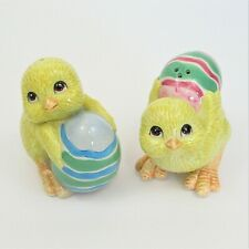 Fitz & Floyd chicks and eggs salt and pepper shakers easter baby chicken