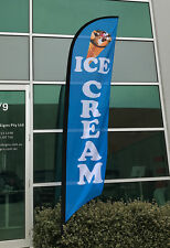 3.5m Ice Cream Flag / Food Flag / Cafe Advertising Flag Banner  - Ready to Ship!