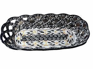TEMP-TATIONS Old World Confetti Oval Bread Basket Woven Design Ovenware Tara
