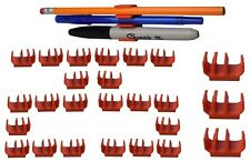 (25 pk) Original Orange pencil pen and marker holder adhesive clip