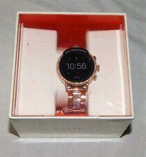 New Fossil Q Venture HR Gen 4 Touchscreen Google Smartwatch GPS Rose Gold Womens