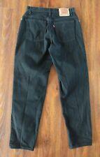 VTG Levi's 550 Mom Jeans 12 Relaxed Fit Black Denim High Waisted Tapered Leg