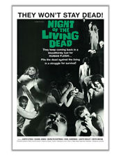 Night of the Living Dead (1968) Vintage-Style Indie Zombie Horror 24x36 Poster