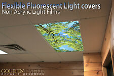 Flexible Fluorescent Light Cover Films Skylight Ceiling Office Medical Dental 68