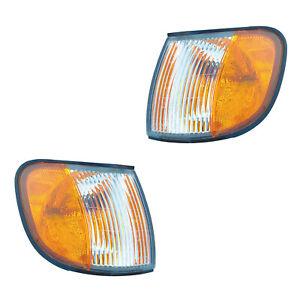 Parking Corner Signal Lights Pair Set for 98-00 Kia Sportage Left & Right