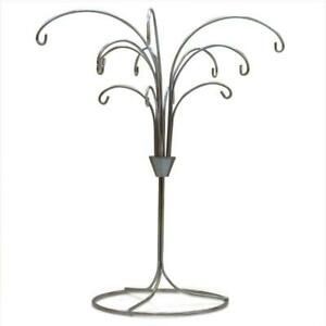 Tree Branches Silver Tone Metal 12 Ornaments Stand 12 Inches