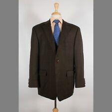 Ralph Lauren 44R Brown Check Wool Two Button Mens Sport Coat Blazer Jacket