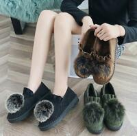 Womens Shoes Platform Furry Ball Snow Thick Korean Style Warm Short Winter Ske15