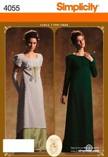 SIMPLICITY SEWING PATTERN 4055 MISSES PERIOD GOWN CIRCA 1795-1825 SIZES 6-12
