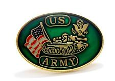 Wholesale Lot of 12 US Army Tank USA Flag Pins Lapel Hat Pin Military Gift 007