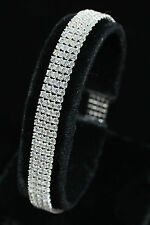 Sterling Silver and Cubic Zirconia Four Row Bracelet