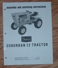 SEARS SUBURBAN 12 HP TRACTOR 917.25520 OWNERS MANUAL