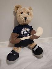 NHL Edmonton Oilers Teddy Bear 16 inchs tall. Great Condition