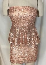 Red Clover Size Small S  dress  Sequins Blush Pink Dressy Prom