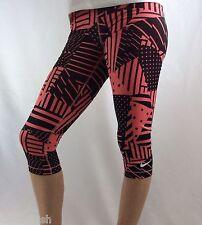 NIKE Pro Women's Training Capri legings Dri-Fit Pink Black Dots Lines Size M