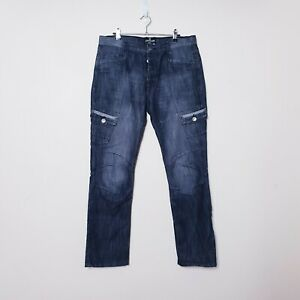 Airwalk Mens W34 L32 Charcol Black Denim Vintage Utility Style Jeans Pants