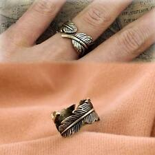 Adjustable Bronze Boho Leaf Ring Bohemian Jewellery Ethnic Gypsy Festival A221