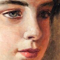 YOUNG WOMAN. OIL ON CANVAS. ATRIB. JULIÁN POZO AND LA ORDEN. SPAIN. XIX-XX