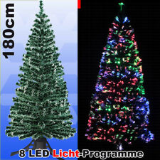 LED Weihnachtsbaum 180 cm Tannenbaum farbwechselnde Glasfaser Fiberoptik xmas