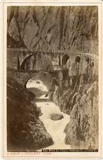 Gabler, Interlaken, pont du diable vintage albumen print Tirage albuminé  11