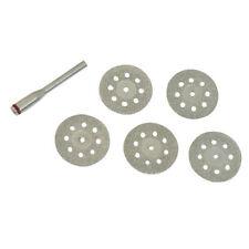 6 pièces diamètre 22 mm ventilé diamant coupe disque Kit de -5 Disques 1 x 3.1 mm Mandrin