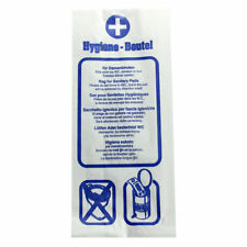 Papier-Hygienebeutel, Hygienetüten mehrsprachig bedruckt weiß 100Stück