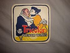 Tricolor French wines beer mats