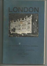 Guide & history London, Institution Electrical Engineers 1931 Faraday Centenary