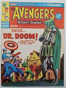 Avengers (1973) #22 UK Reprint of Avengers #25 Dr. Doom Kirby Cvr Dr Strange FN+