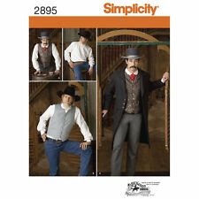 PATTERN for Western Frock Coat Costume Simplicity 2895 Tombstone 38 - 44 Gambler