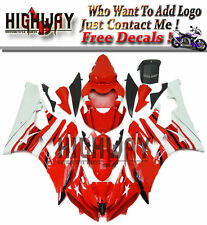 For Yamaha YZF 600 YZF-R6 2006 2007 06 07 ABS Plastic Fairings Kit White Red New