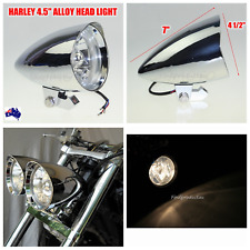 2x Chrome billet head light Harley sporster softail chopper bobber dyna FXR FXST