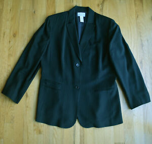 NEW Women's ANN TAYLOR LOFT STRETCH lined BLACK pinstripe jacket (12P) business