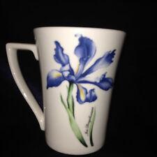 Grafton Living Tams Diana Birkett Tall Mug Hydrangea Iris Douglasiana Flowers
