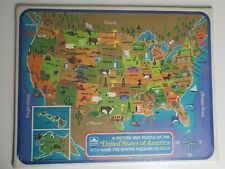 1968 Golden United States of America Picture Map Puzzle NEW IN PLASTIC!!