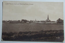 1909 PHOTO POSTCARD LAWN TENNIS COURT AND BOWLING GREEN GIRVAN ENGLAND