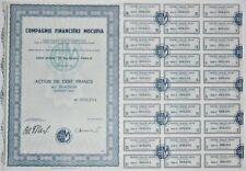 Action - Compagnie Financière MOCUPIA, action de 100 Frs N° 008234