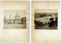 Roma Lotto di due singole piccole foto all' albumina originali 1860c S1551